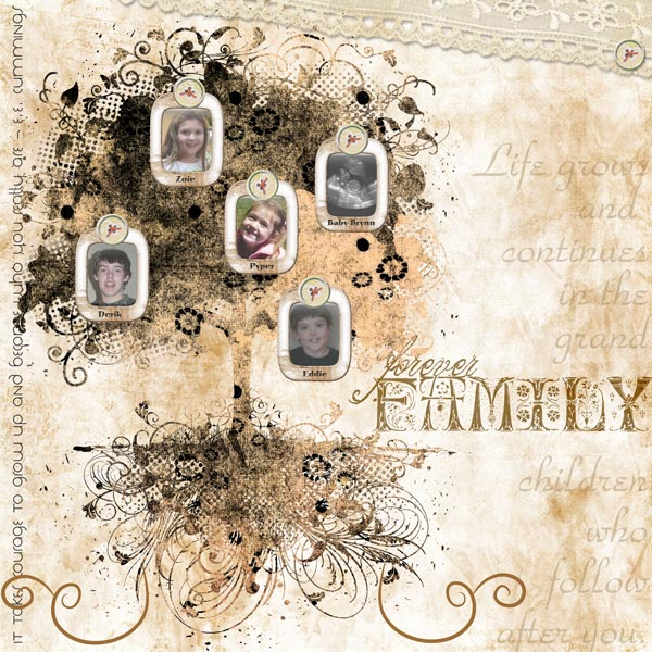 Forever Family by Patti Senter. Blanc De Noir 1 Element Pak;Keys 2 My