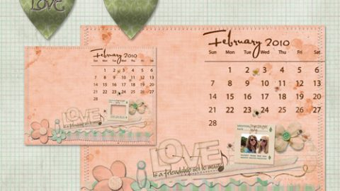 February Desktop Freebie & Coupon Code
