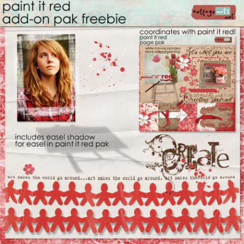 Day 5 – Paint It Red Freebie