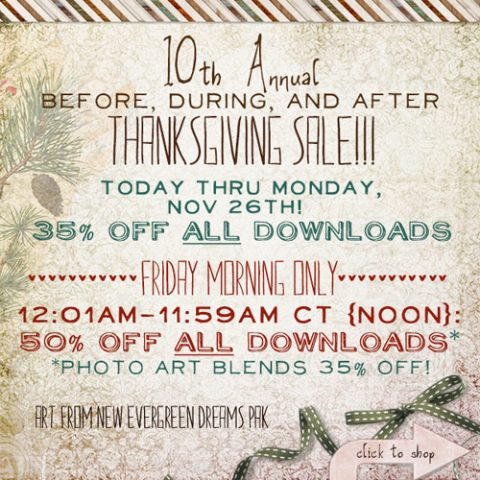 Before, During, & After Thanksgiving Sale!!