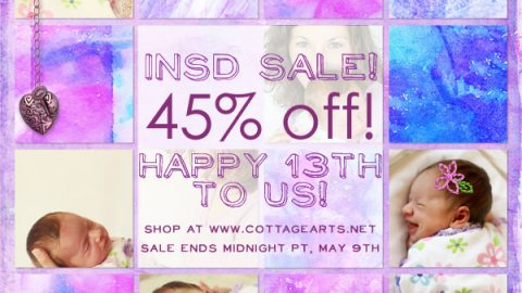 Cottage Arts turns 13 {45% Off Sale}!!