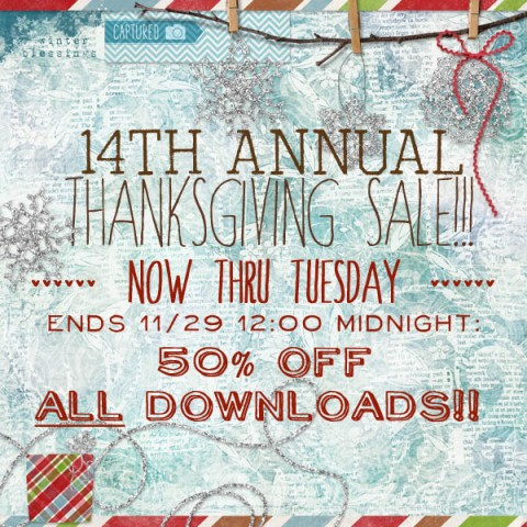 14th Annual Thanksgiving Sale {lots of new art too}!!!