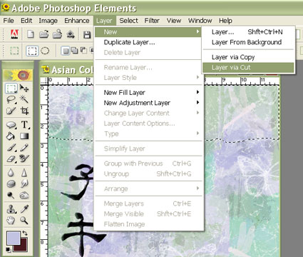 how to open layer groups in photoshop elements